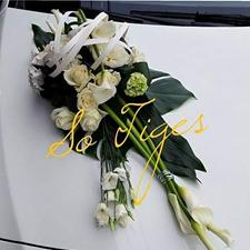 Décoration florale véhicule mariage à Phalempin