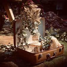Location échelle en bois fleurie pour mariage à Phalempin