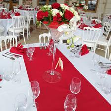 Décoration florale salle de réception pour mariage à Phalempin